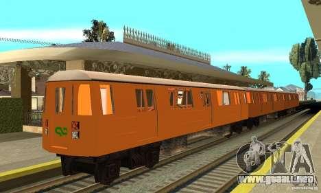 Liberty City Train CP para GTA San Andreas vista posterior izquierda