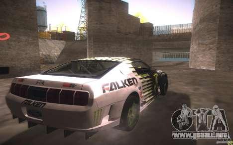 Ford Mustang Monster Energy para GTA San Andreas vista hacia atrás