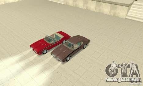 Pontiac GTO The Judge Cabriolet para vista lateral GTA San Andreas
