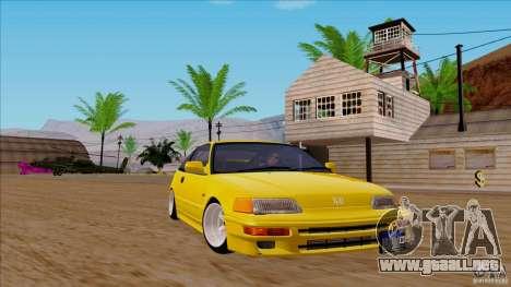 Honda CRX Hella Flush para GTA San Andreas vista posterior izquierda
