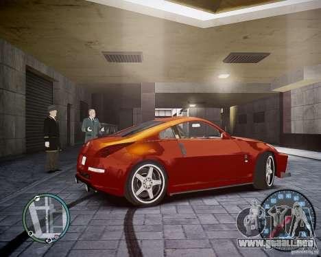 Nissan 350Z Z33 para GTA 4 visión correcta
