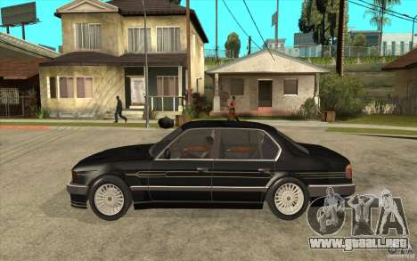 BMW E32 7-er Alpina B12 para GTA San Andreas vista posterior izquierda