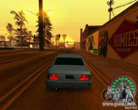 Nuevo velocímetro para GTA San Andreas tercera pantalla