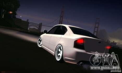 Subaru Legacy BIT edition 2004 para vista inferior GTA San Andreas