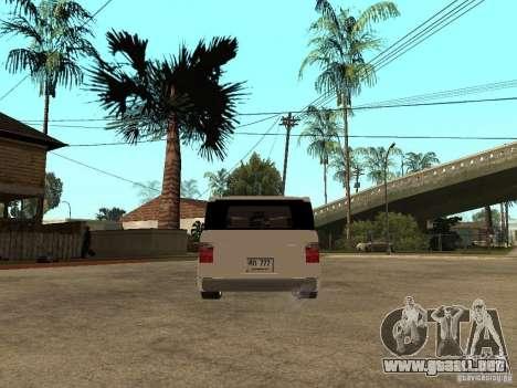 Honda Element para GTA San Andreas vista posterior izquierda