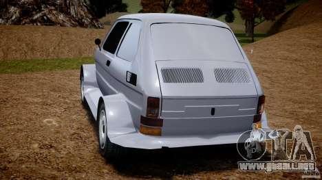 Fiat 126p Bis Rally para GTA 4 Vista posterior izquierda