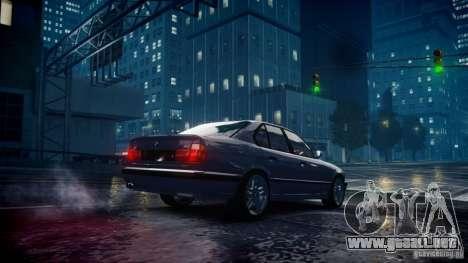 BMW M5 (E34) 1995 v1.0 para GTA 4 vista hacia atrás