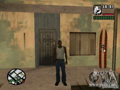 Cerf para GTA San Andreas quinta pantalla