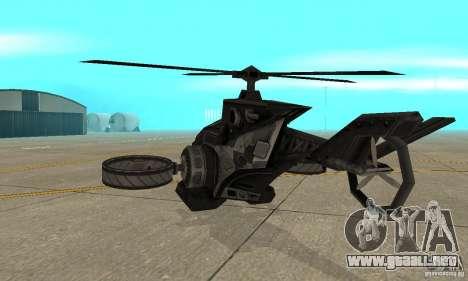 Un helicóptero desde el juego TimeShift Black para la visión correcta GTA San Andreas