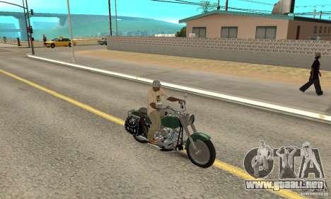 Harley Davidson FLSTF (Fat Boy) v2.0 Skin 1 para la visión correcta GTA San Andreas