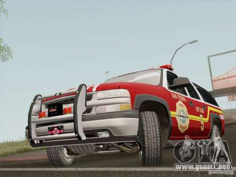 Chevrolet Suburban SFFD para GTA San Andreas left