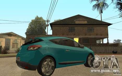 Renault Megane 3 Coupe para la visión correcta GTA San Andreas