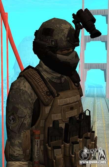 USA Army Special Forces para GTA San Andreas segunda pantalla