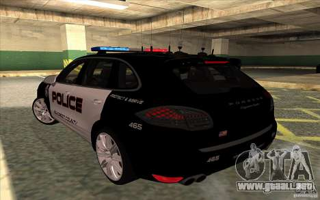Porsche Cayenne Turbo 958 Seacrest Police para GTA San Andreas left