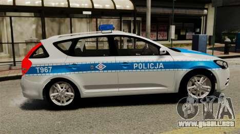 Kia Ceed 2011 SW Polish Police ELS para GTA 4 left