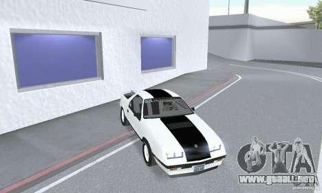 Dodge Daytona Turbo CZ 1986 para la visión correcta GTA San Andreas