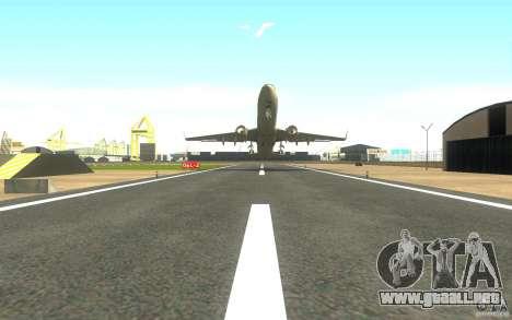 Sukhoi SuperJet-100 para GTA San Andreas vista posterior izquierda