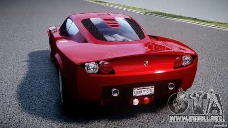 Farboud GTS 2007 para GTA 4 Vista posterior izquierda