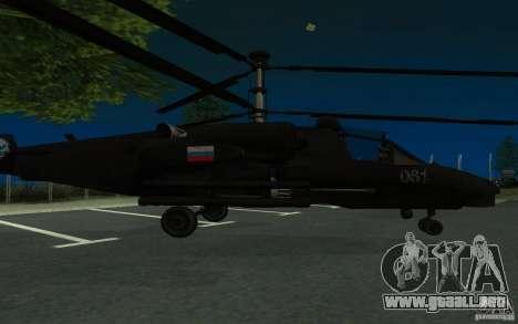 KA-52 ALLIGATOR v1.0 para GTA San Andreas left
