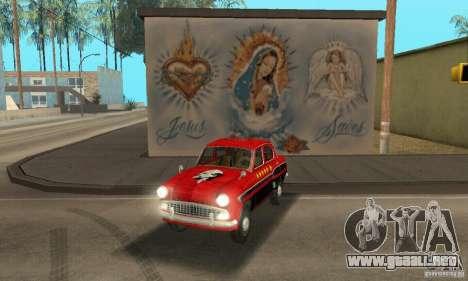 Moskvitch 407 1958 para visión interna GTA San Andreas