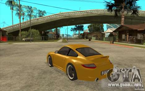 Porsche 911 Sport Classic para GTA San Andreas vista posterior izquierda