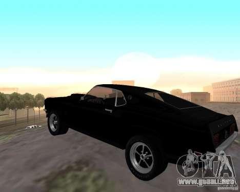 Ford Mustang Boss 1969 para GTA San Andreas vista posterior izquierda