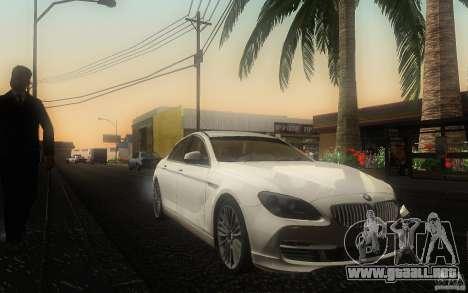 BMW 6 Series Gran Coupe 2013 para GTA San Andreas vista hacia atrás