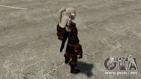 Geralt de Rivia v4 para GTA 4 adelante de pantalla