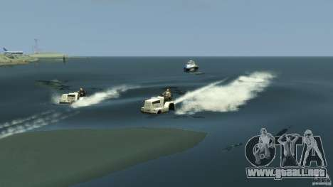 Airtug boat para GTA 4 vista lateral