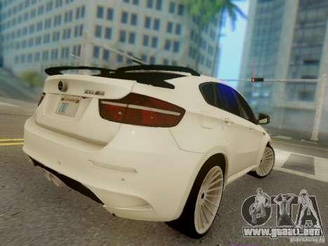 BMW X6 Hamann para vista lateral GTA San Andreas