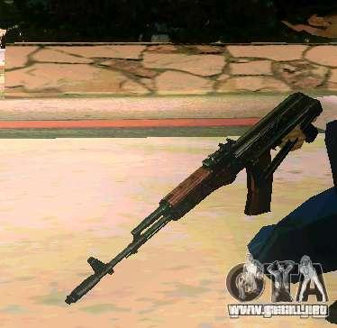 Weapon Pack v 5.0 para GTA San Andreas sucesivamente de pantalla