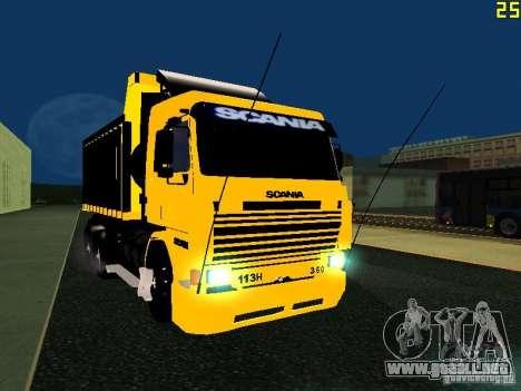 Scania 113H para GTA San Andreas vista hacia atrás