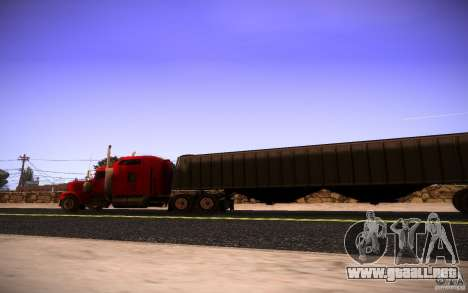 Kenworth W 900L para vista lateral GTA San Andreas