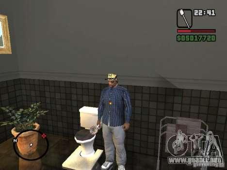 Escobilla de baño para GTA San Andreas sucesivamente de pantalla