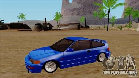 Honda CRX Hella Flush para visión interna GTA San Andreas