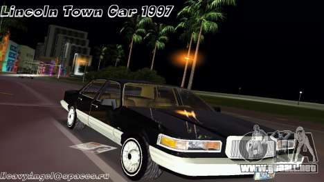 Lincoln Town Car 1997 para GTA Vice City
