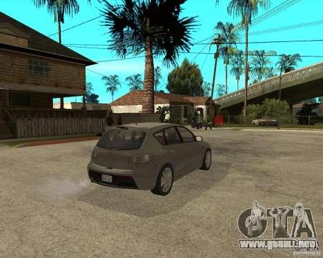 Mazda 3 Sport 2003 para GTA San Andreas vista posterior izquierda