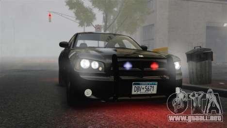 Dodge Charger RT Hemi FBI 2007 para GTA 4 vista interior