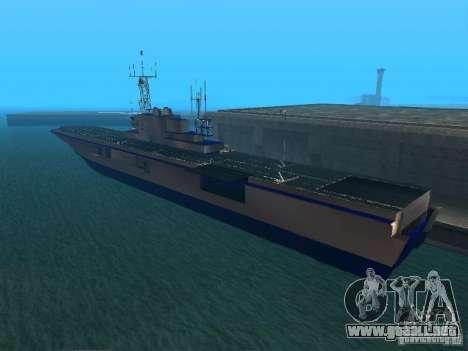 Portaaviones para GTA San Andreas segunda pantalla