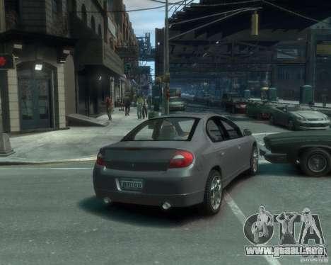 Dodge Neon 02 SRT4 para GTA 4 Vista posterior izquierda
