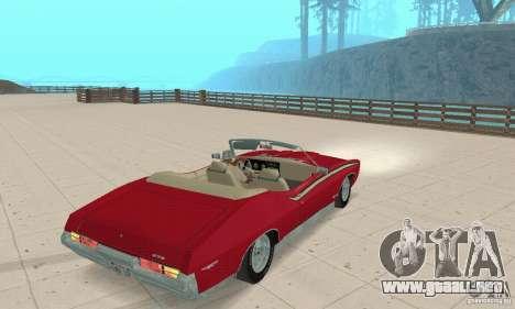 Pontiac GTO The Judge Cabriolet para GTA San Andreas left