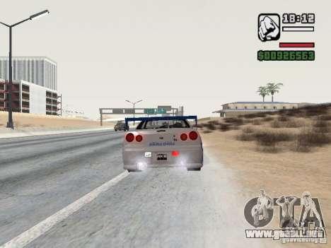 Nissan Skyline GTR34 FNF2 para GTA San Andreas left