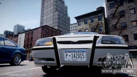 Chevrolet Impala Unmarked Police 2003 v1.0 [ELS] para GTA 4 vista desde abajo