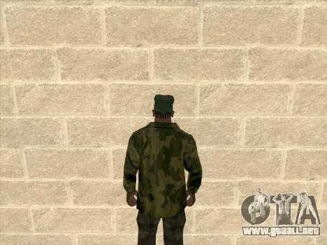 Chaqueta de camuflaje para GTA San Andreas segunda pantalla