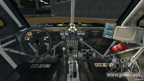 Hummer H3 raid t1 para GTA 4 vista hacia atrás