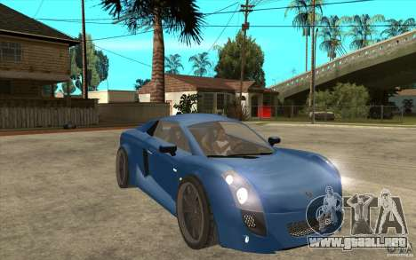 Mastretta MXT v1.1 para GTA San Andreas vista hacia atrás
