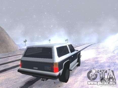 Snow MOD HQ V2.0 para GTA San Andreas séptima pantalla