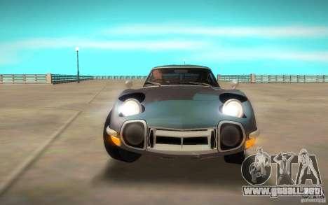 Toyota 2000GT 1969 para la visión correcta GTA San Andreas