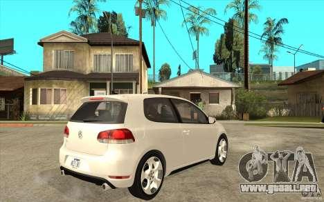 VW Golf 6 GTI para la visión correcta GTA San Andreas