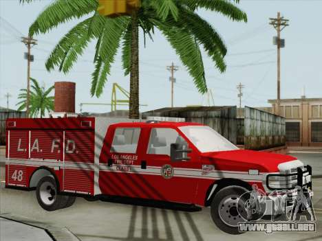 Ford F-350 Super Duty LAFD para la vista superior GTA San Andreas